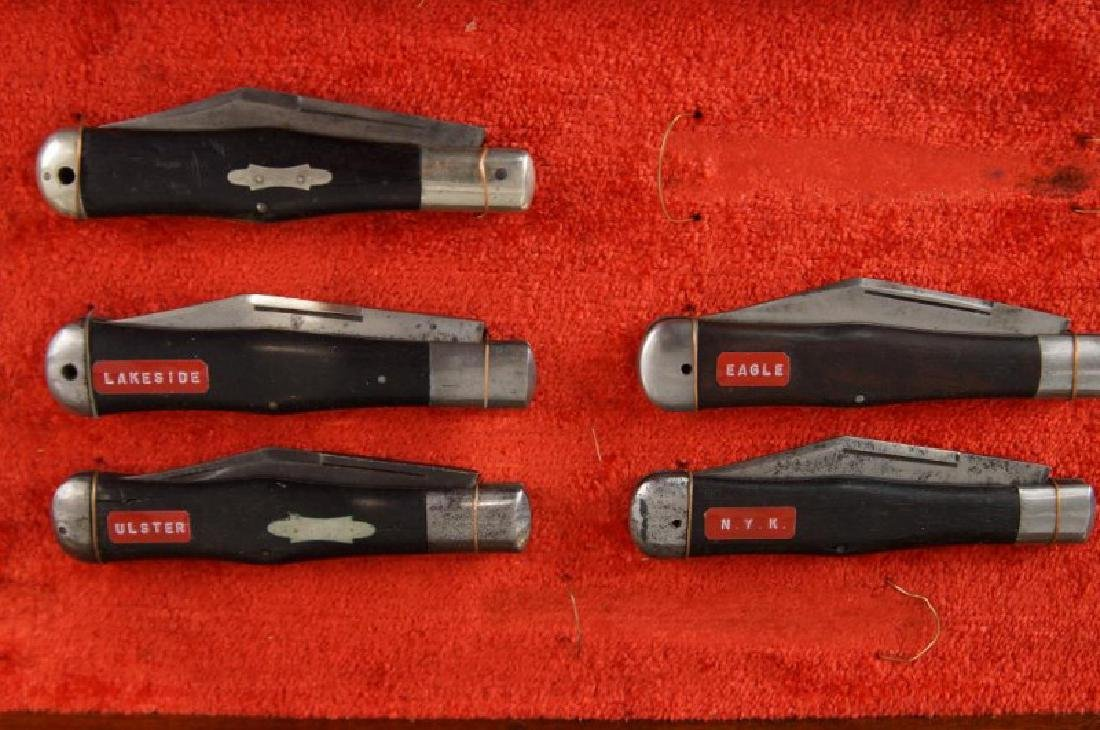 Antique Folding Knives sampler in case S - 2