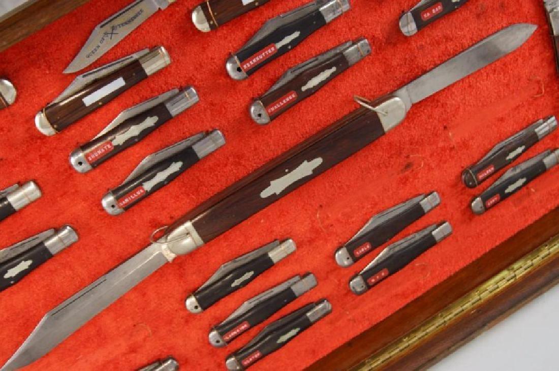 Antique Folding Knives sampler in case S - 6