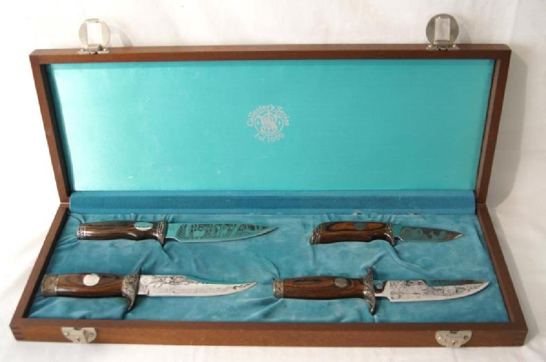 Smith & Wesson Collectors Series Knives, cased
