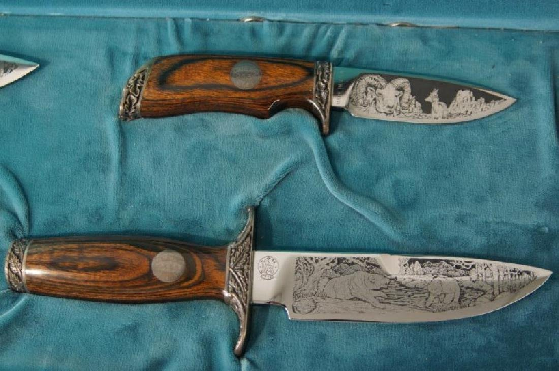 Smith & Wesson Collectors Series Knives, cased - 4