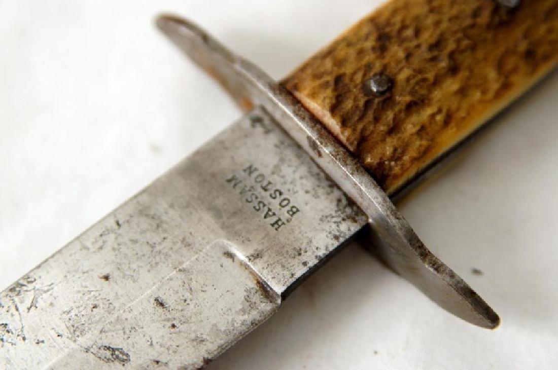 Antique Bowie knife Hassam Boston - 6