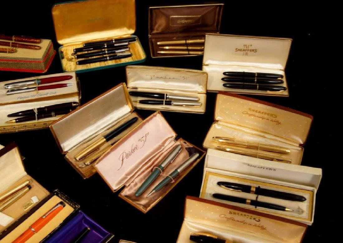 Collection of Vintage fountain pens, Parker, Sheaffer - 3