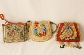 "Native Am. ""Strike-a-lite"" beaded pouches"