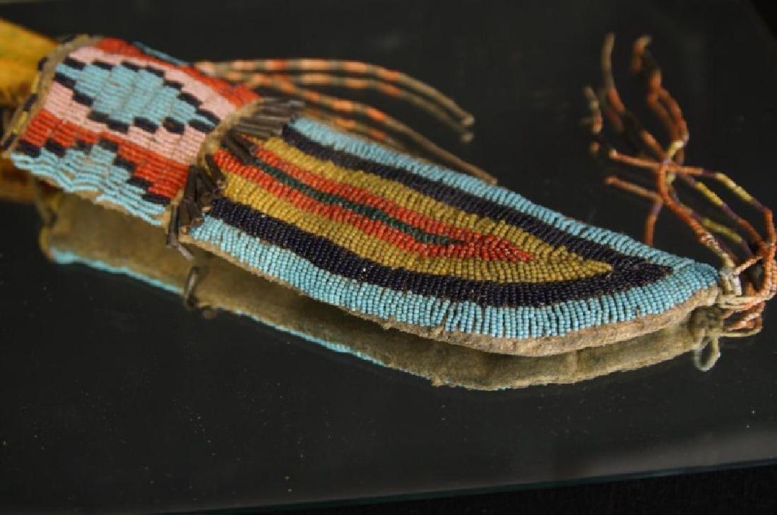 Native American Beaded knife sheath - 2