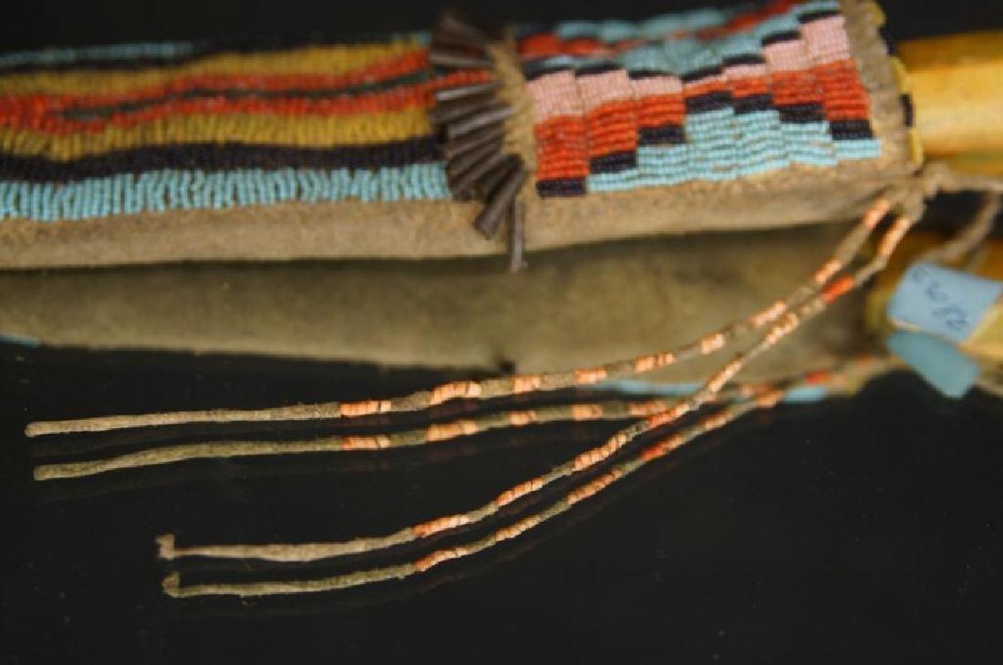 Native American Beaded knife sheath - 4