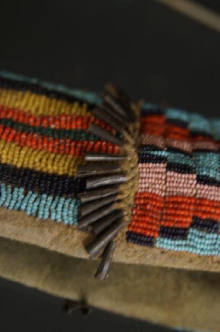 Native American Beaded knife sheath - 5