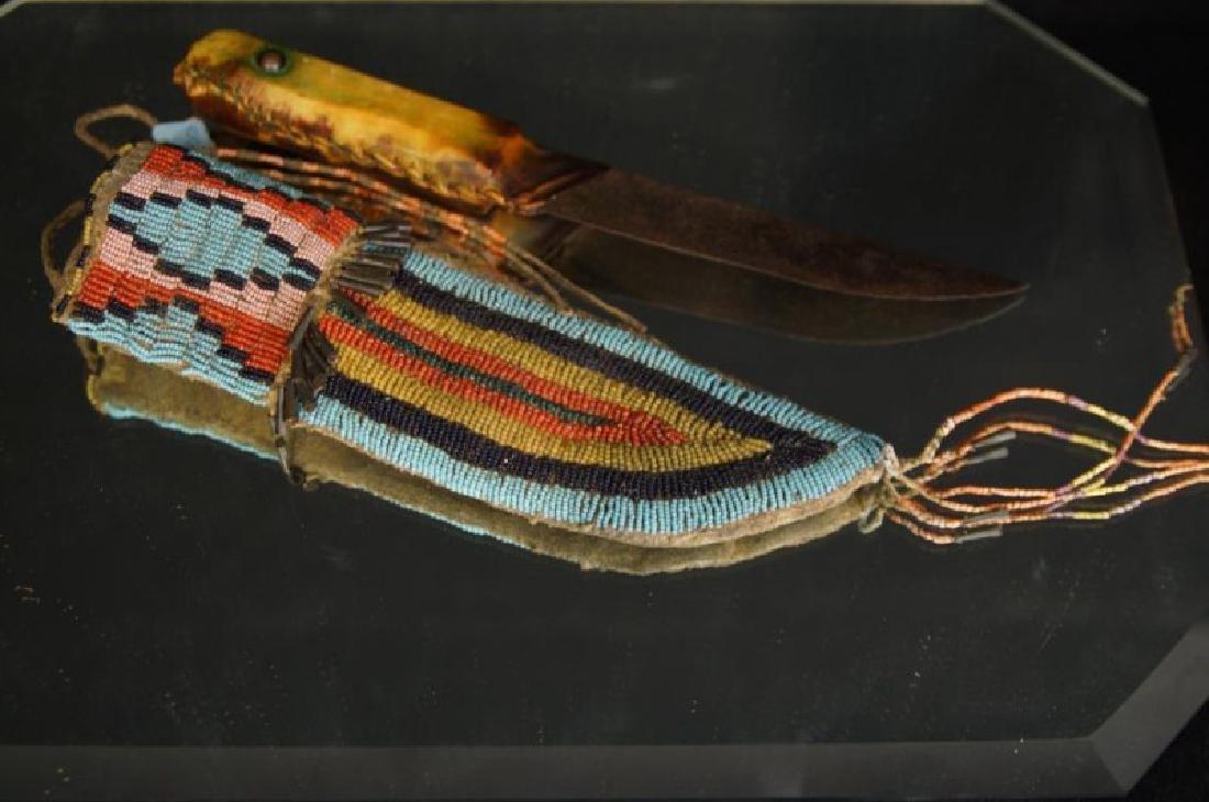 Native American Beaded knife sheath - 6