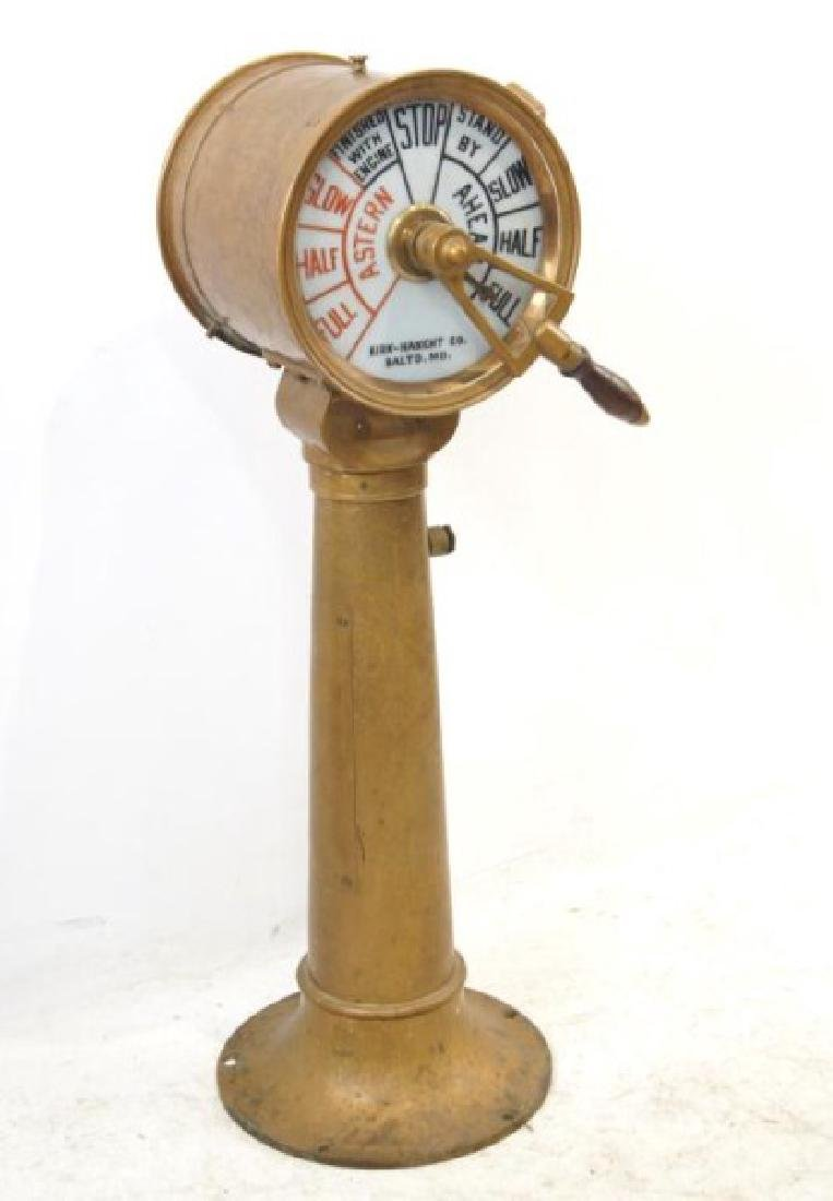 Antique Ship's telegraph with stand