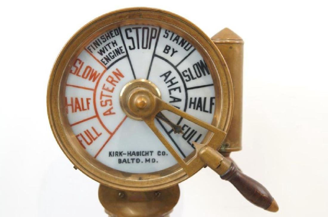 Antique Ship's telegraph with stand - 4