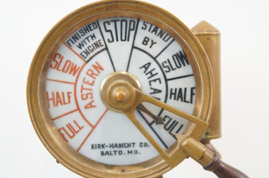 Antique Ship's telegraph with stand - 5