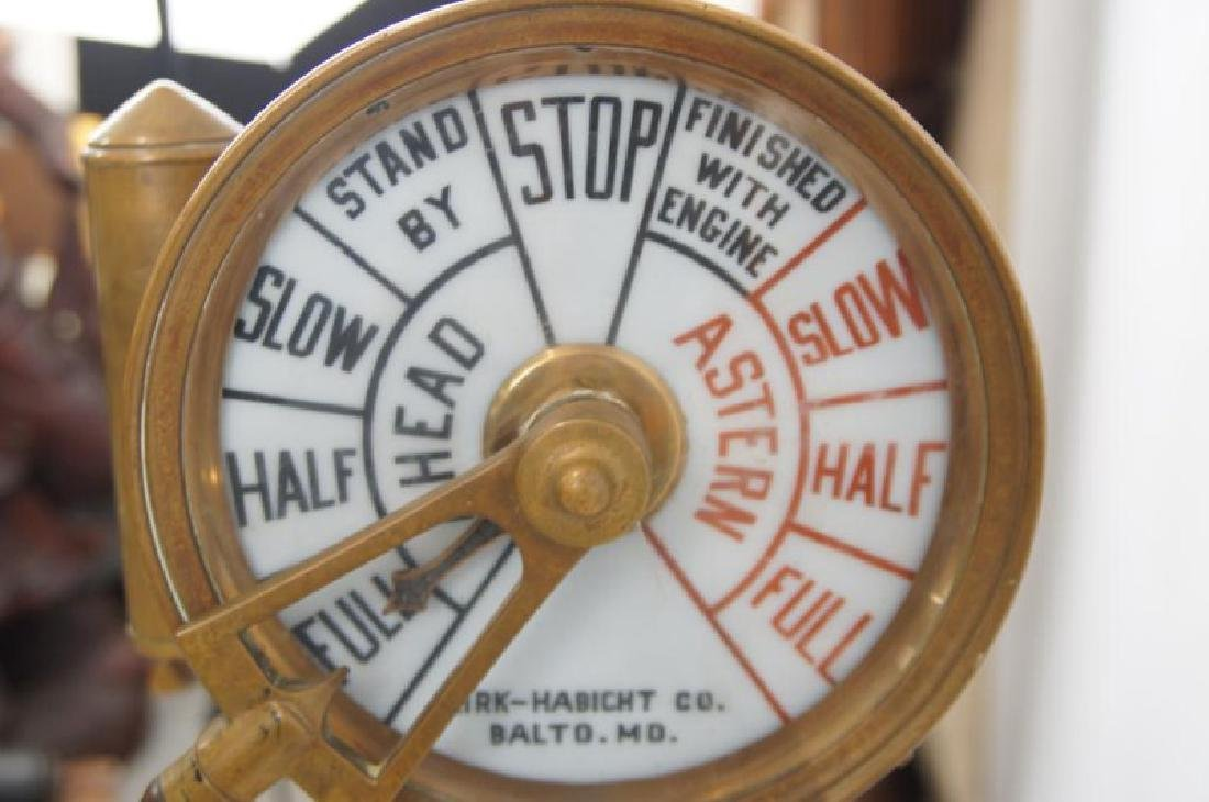 Antique Ship's telegraph with stand - 7