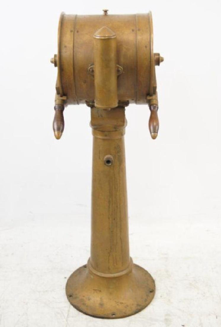 Antique Ship's telegraph with stand - 8