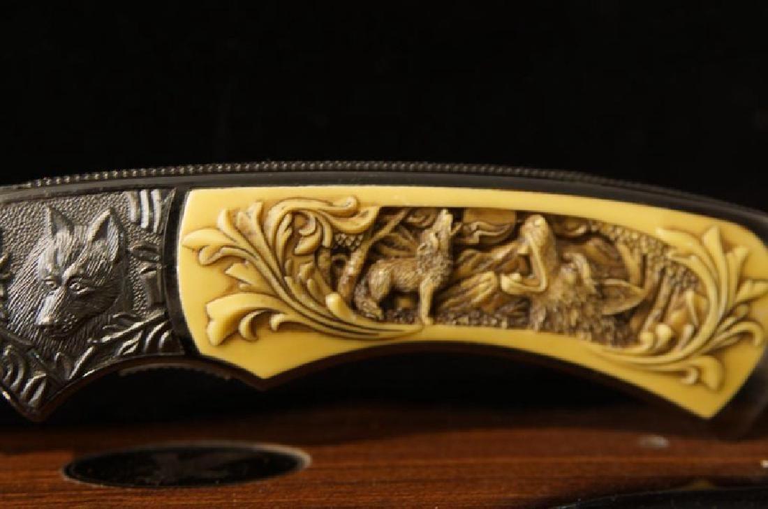 2 Large engraved knives - 4