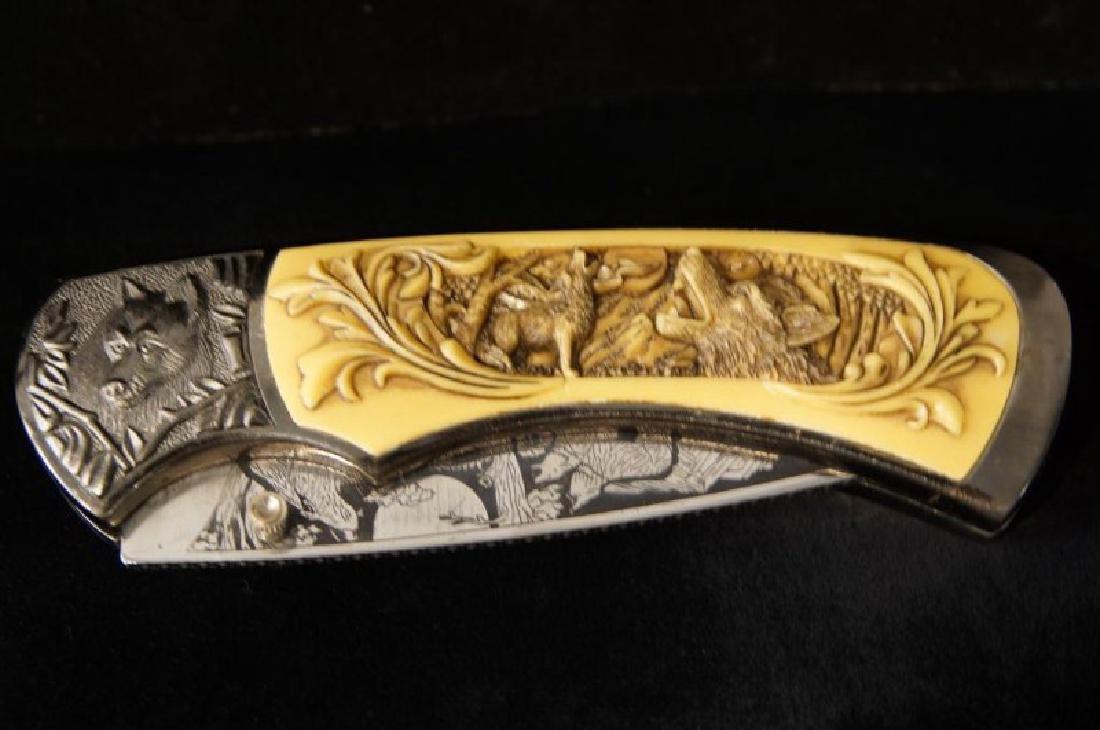 2 Large engraved knives - 5