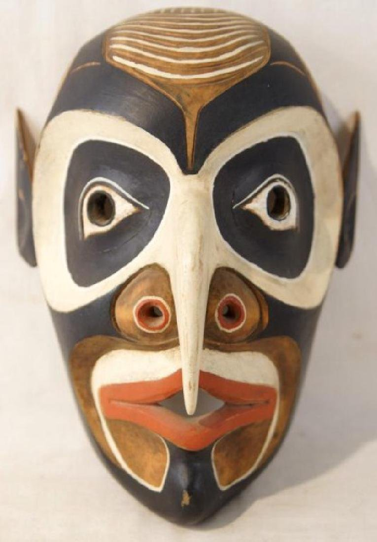 Kwakiutl NW Indian carved wooden mask