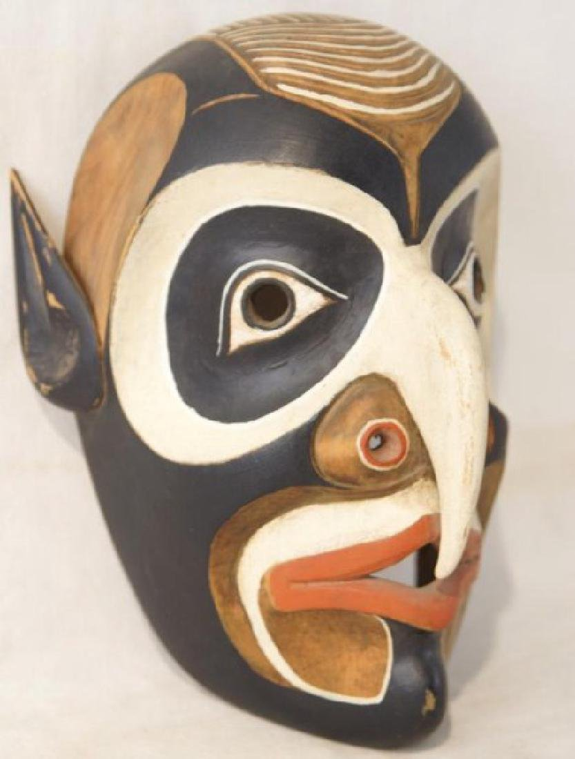 Kwakiutl NW Indian carved wooden mask - 2