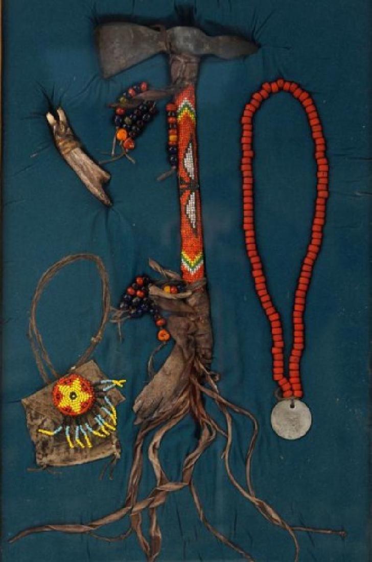 Yakima Nation beaded Tomahawk presentation - 2