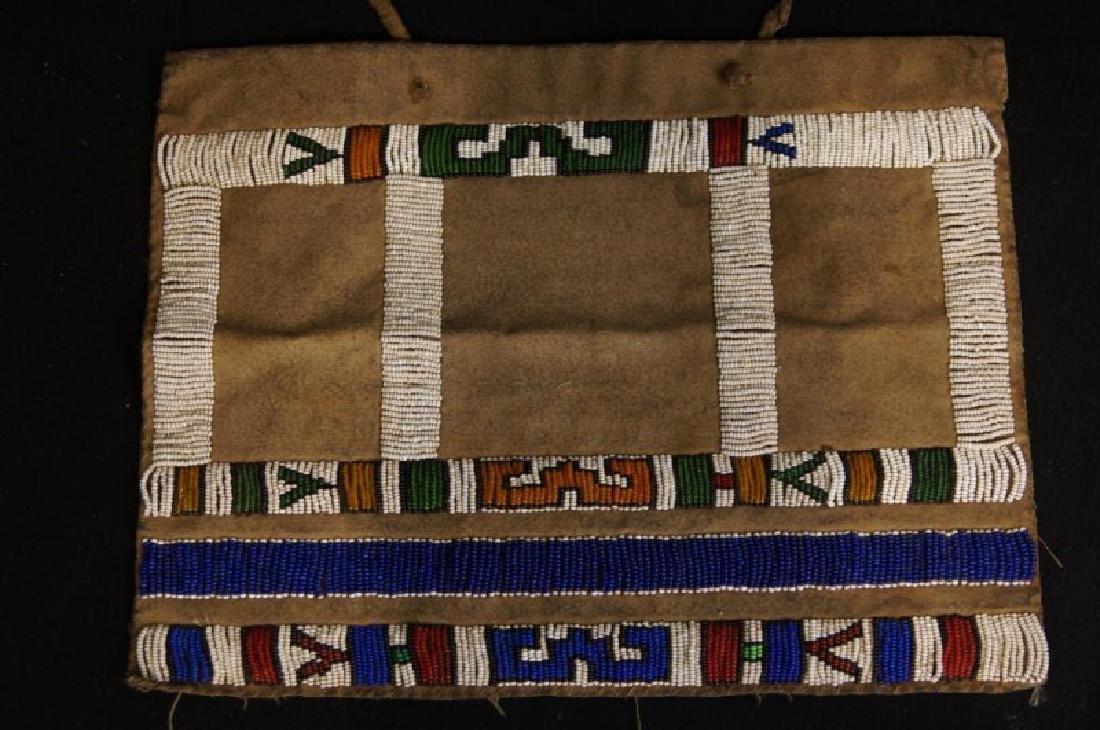Beaded Native American tobacco bag