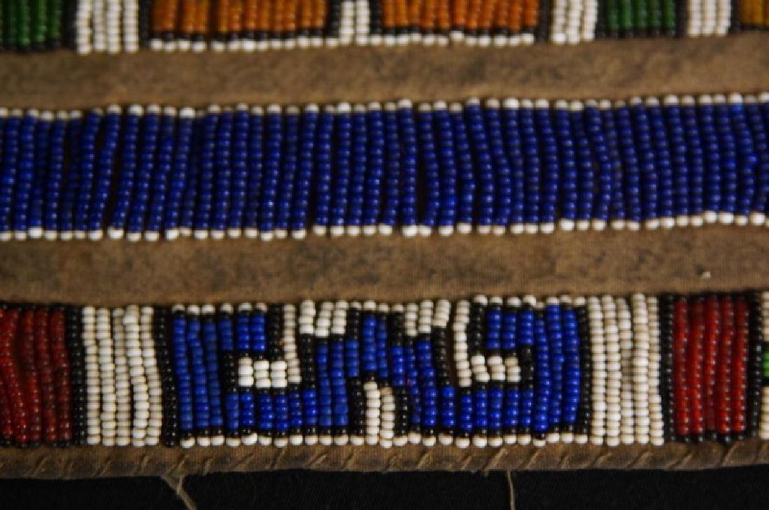 Beaded Native American tobacco bag - 7