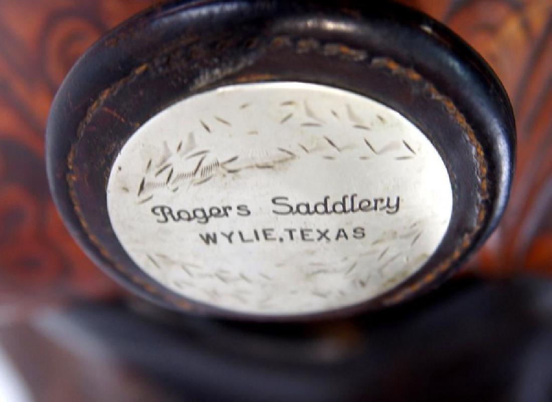 Rogers Saddlery Wilie Texas Western Saddle - 9