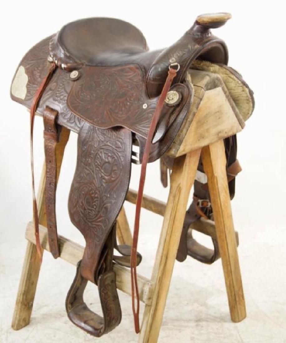 Ozark Leather Co. Waco Texas Western saddle - 10