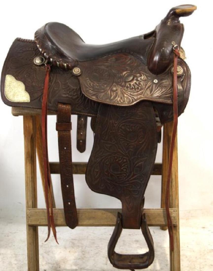Ozark Leather Co. Waco Texas Western saddle - 2