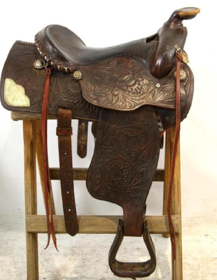 Ozark Leather Co. Waco Texas Western saddle - 3