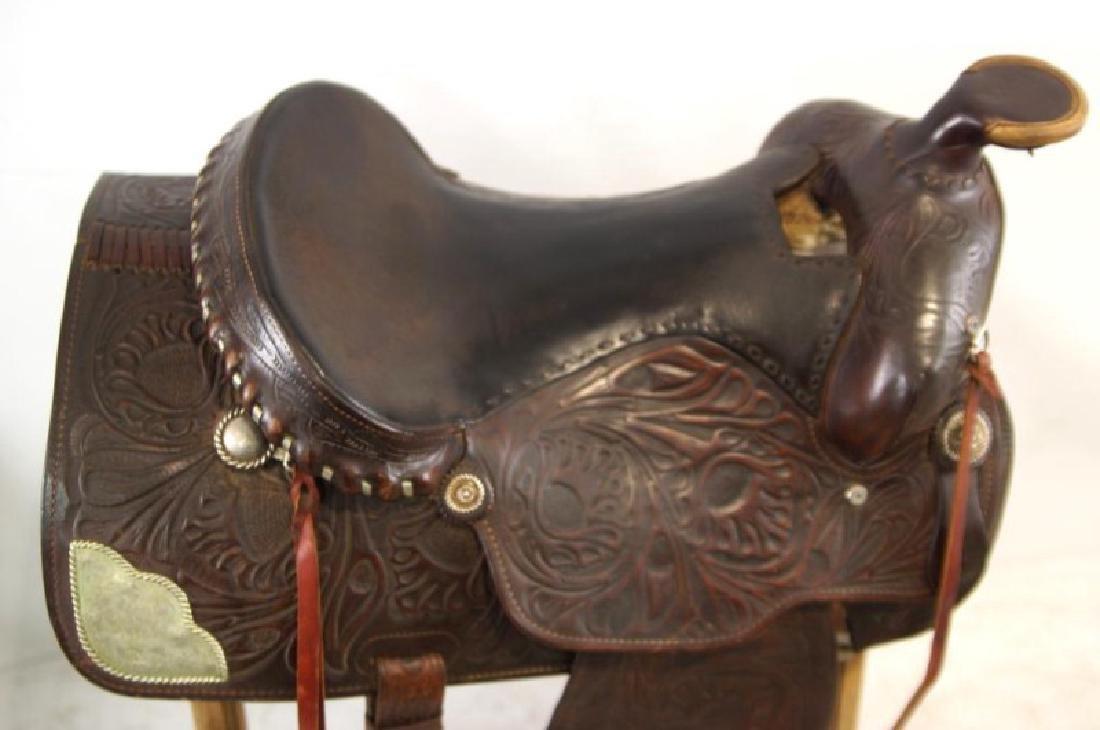 Ozark Leather Co. Waco Texas Western saddle - 5