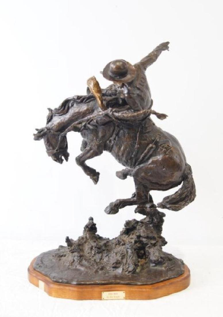 Jim Knight - Bronze bucking horse