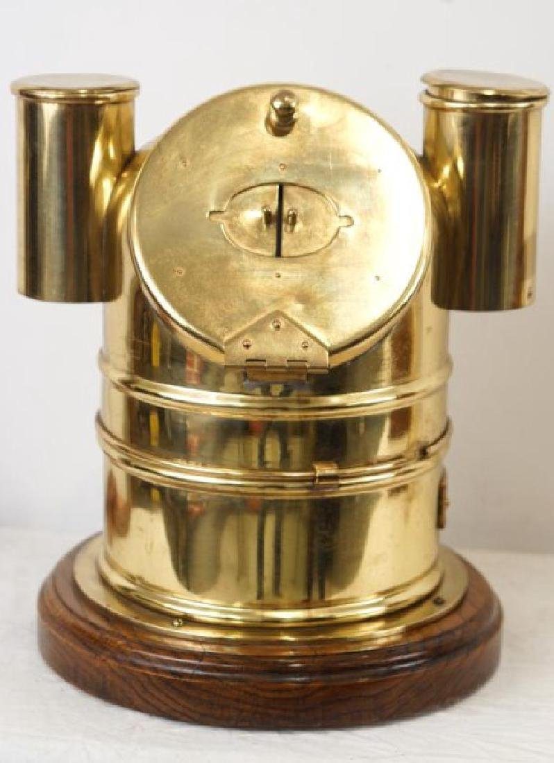 Antique Scottish brass Binnacle with compass