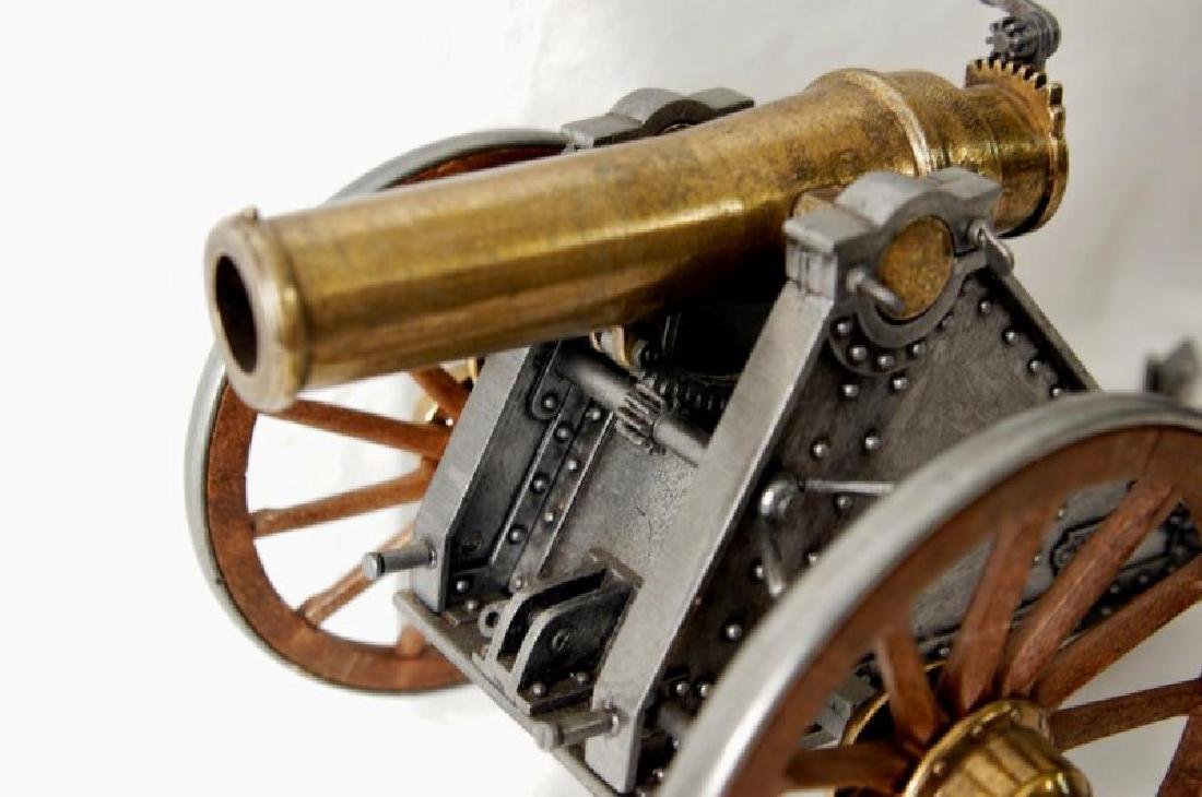 Three small Historic Cannon models - 8