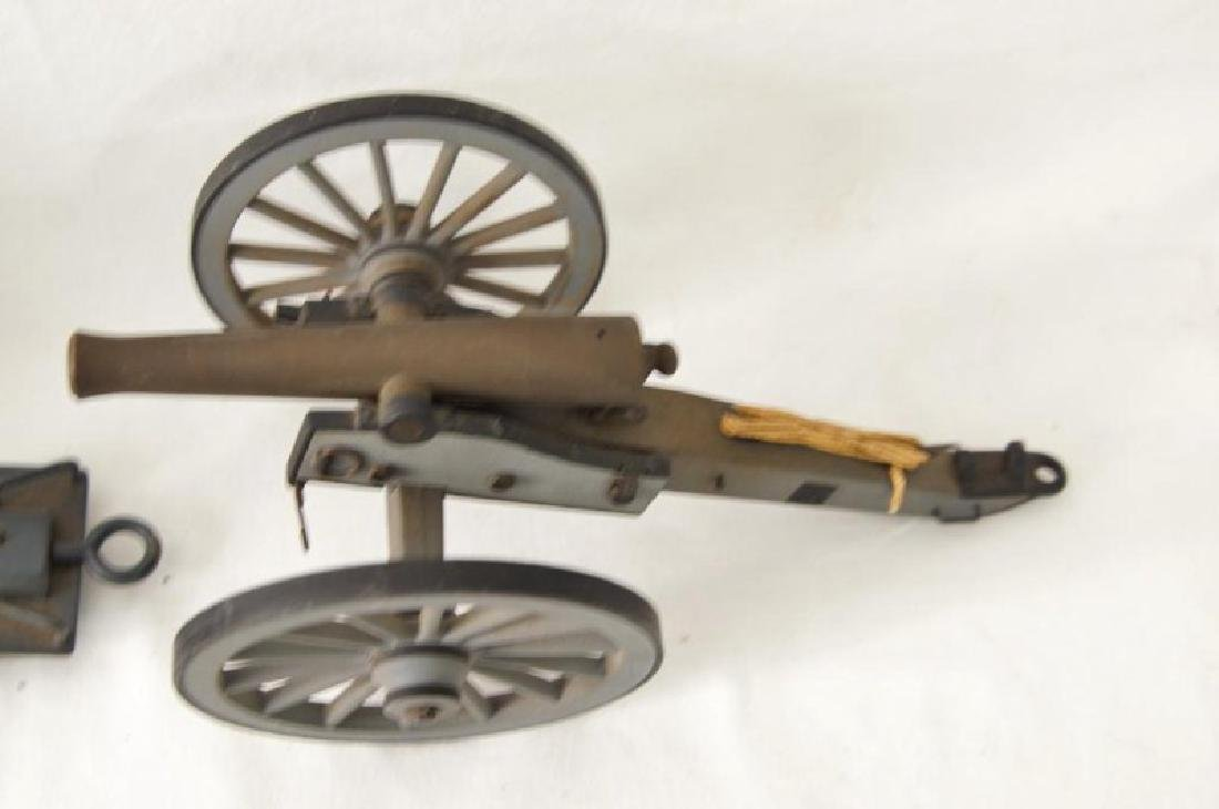 Three small Historic Cannon models - 9