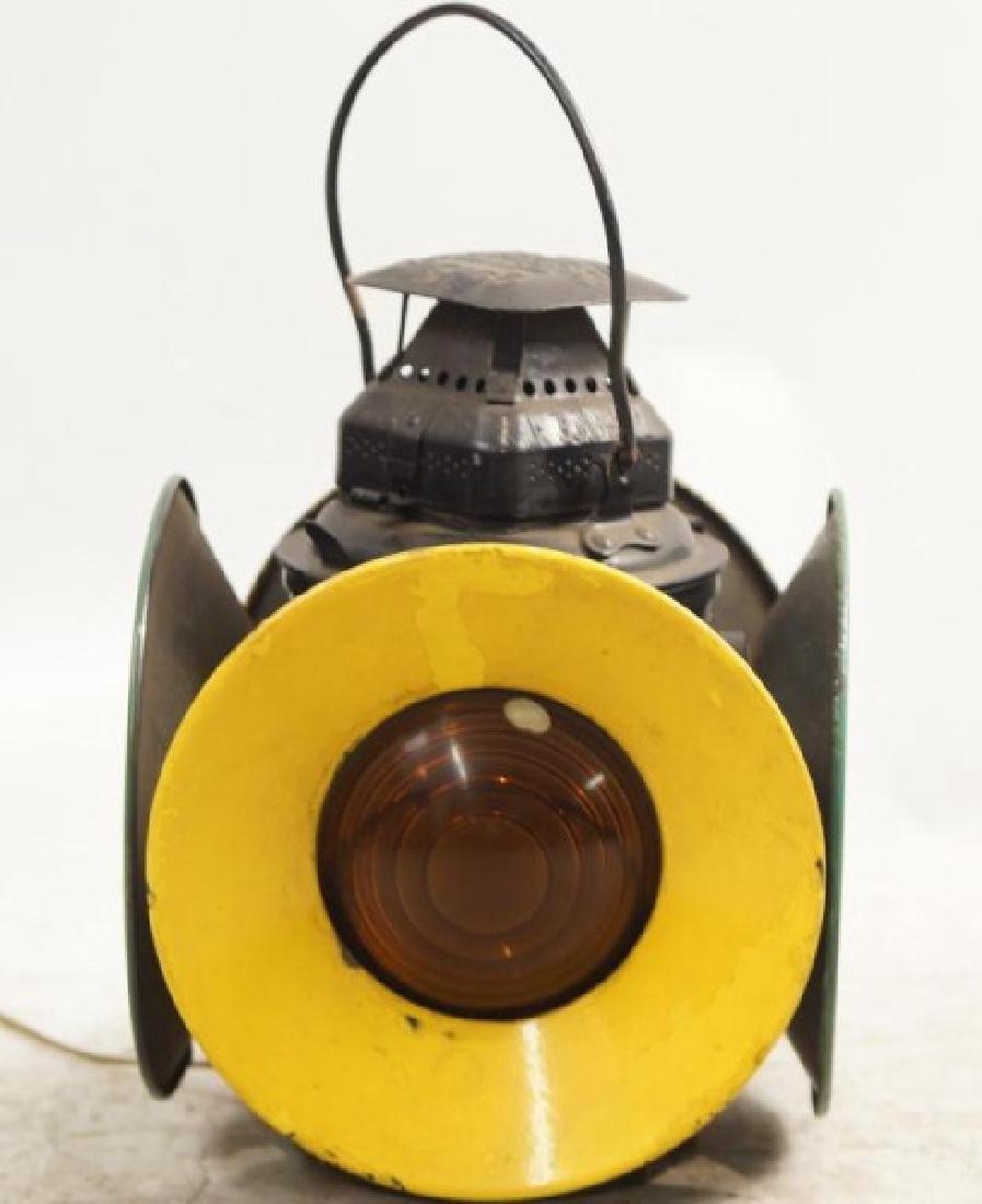 Antique railroad signal lantern - 4 light - 2