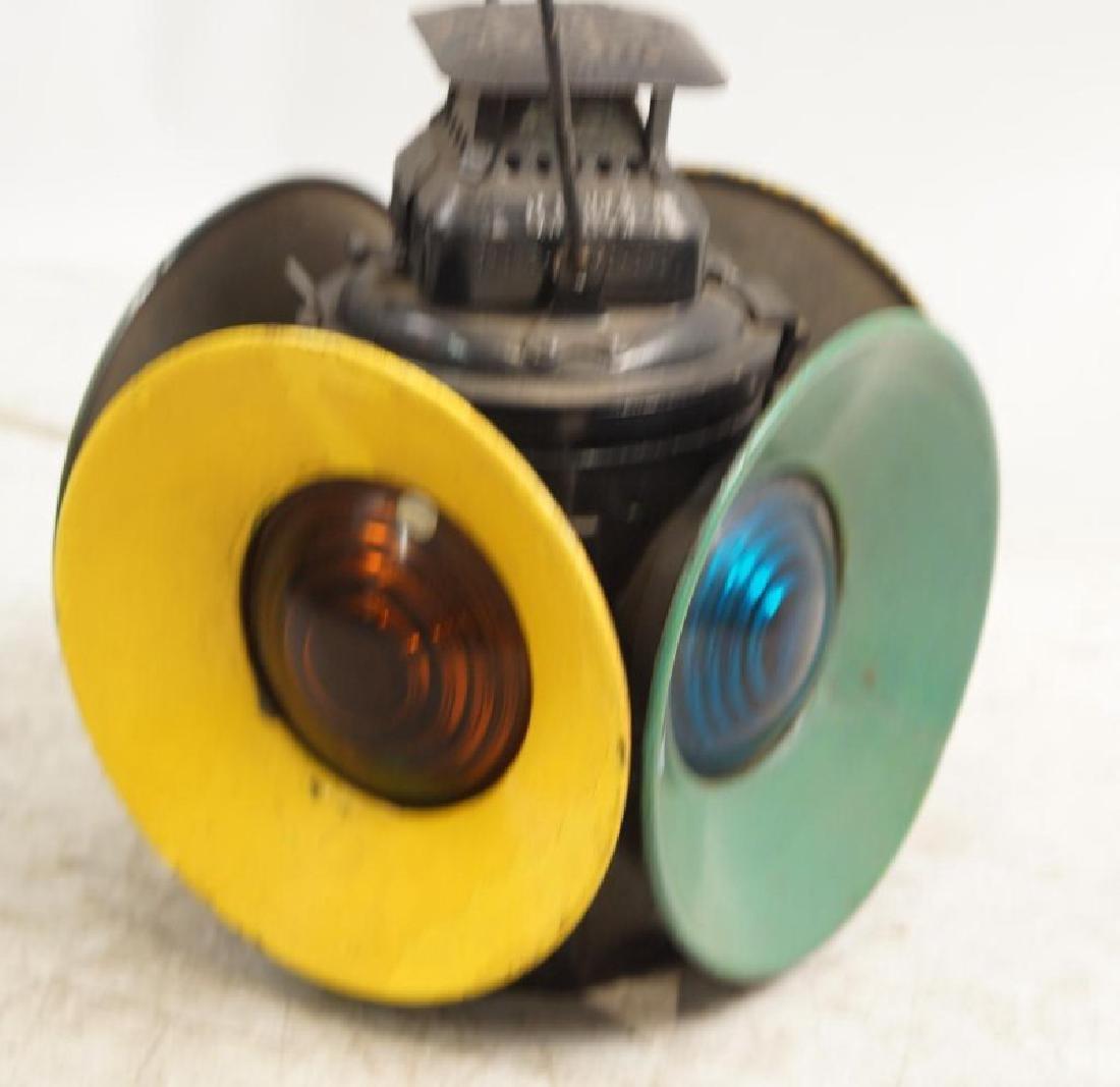 Antique railroad signal lantern - 4 light - 3