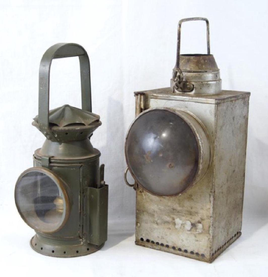 2 Antique Rail Raod Lanterns