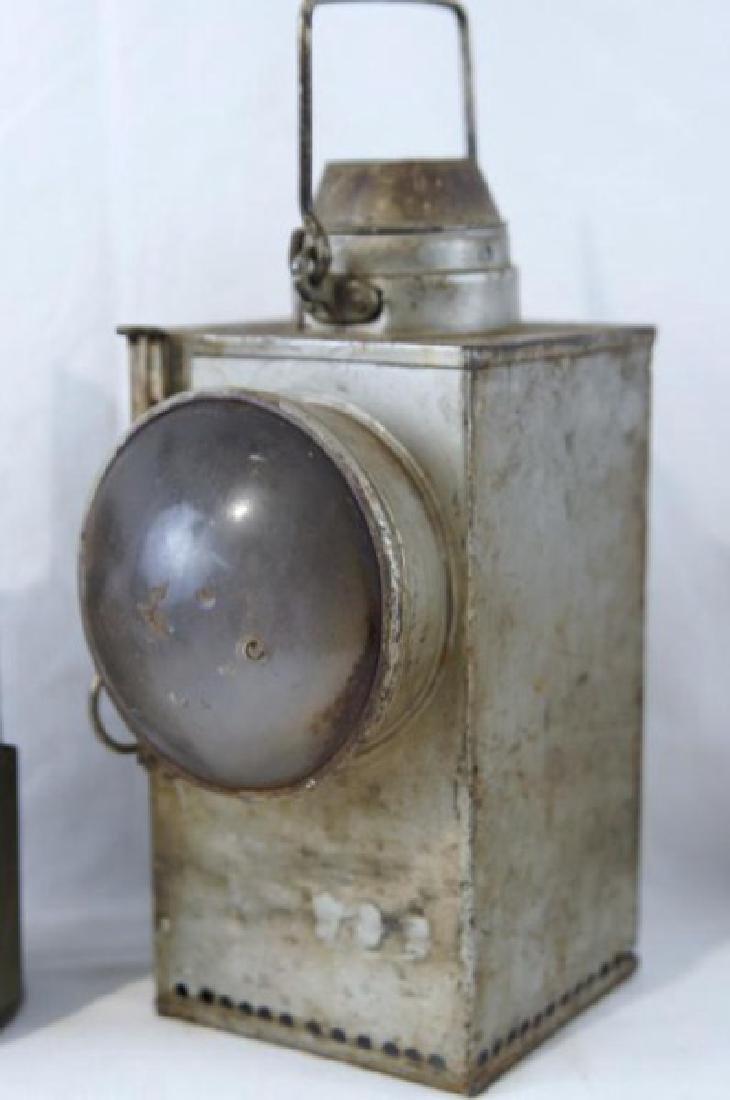 2 Antique Rail Raod Lanterns - 2