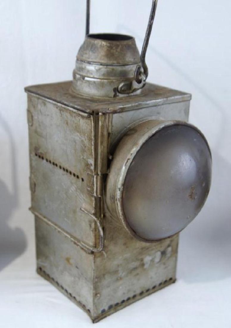 2 Antique Rail Raod Lanterns - 4