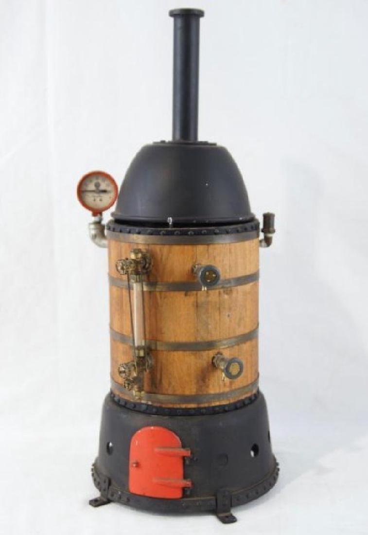Stationary Live Steam generator boiler with gauge