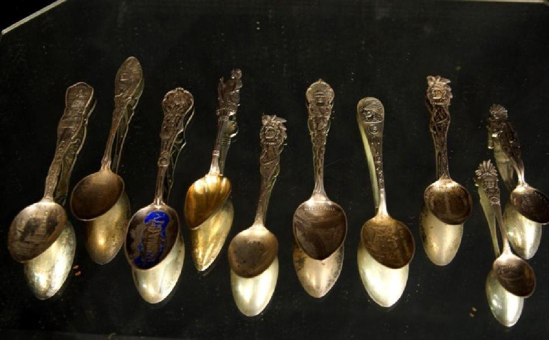 Sterling spoons - Indian Chiefs - 6