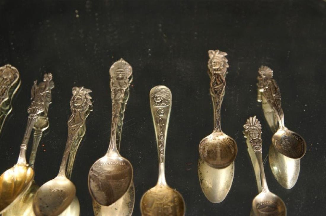 Sterling spoons - Indian Chiefs - 8
