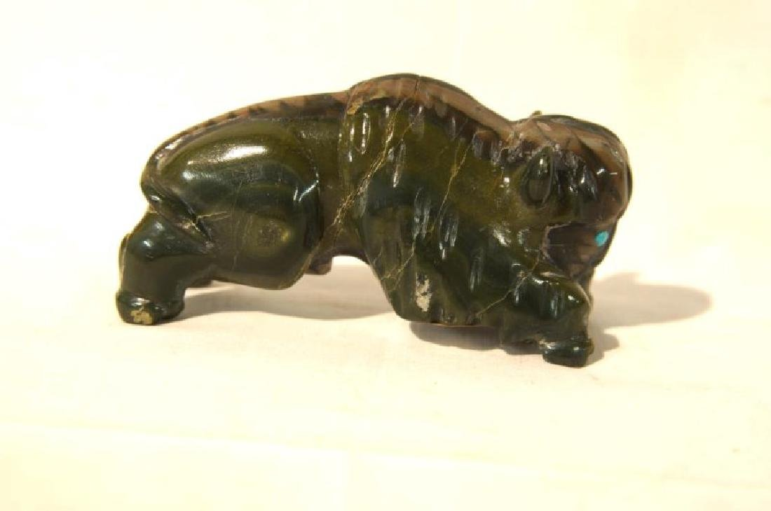 A Jade Carved Buffalo and Carved Eagle Effigies - 5