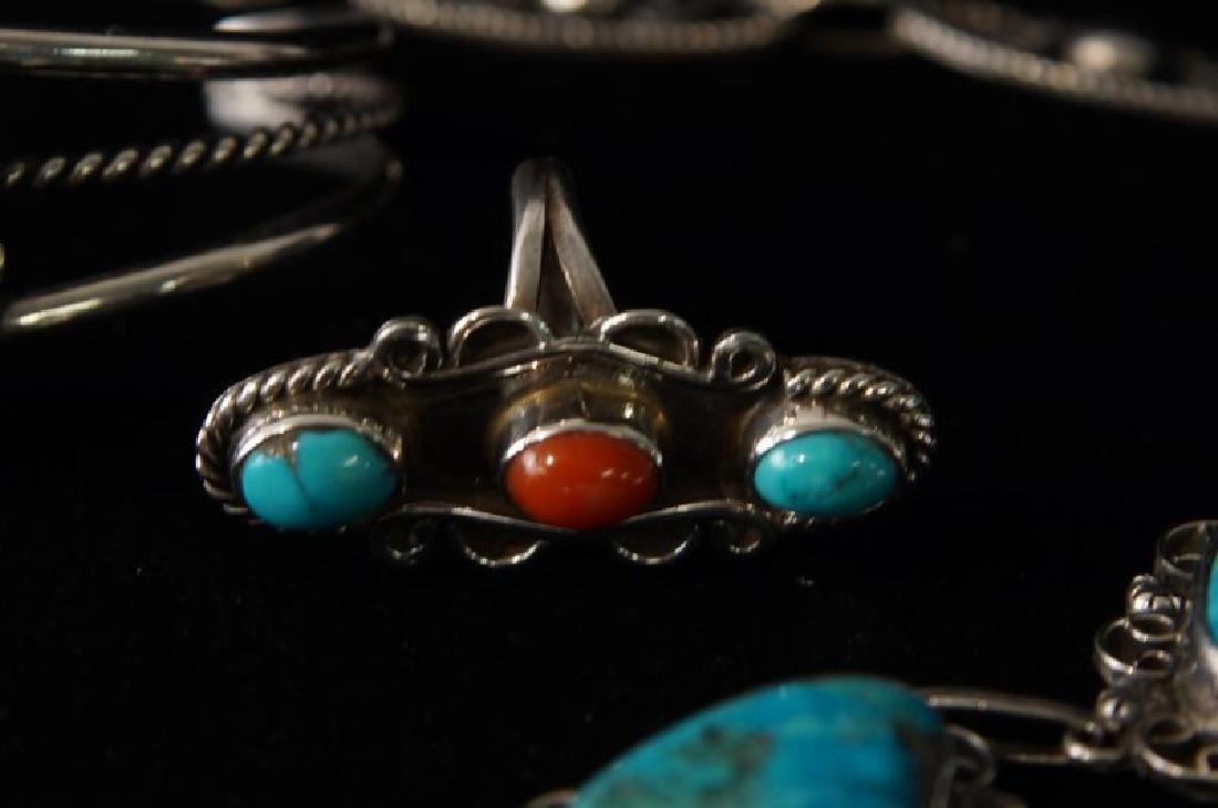 Taxco Sterling & Turquoise necklace & bracelet - 4