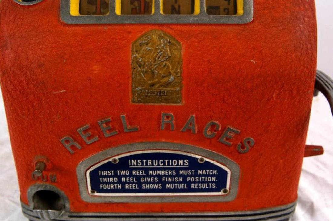 Vintage Reel races coin-op slot machine Gum Vendor - 4