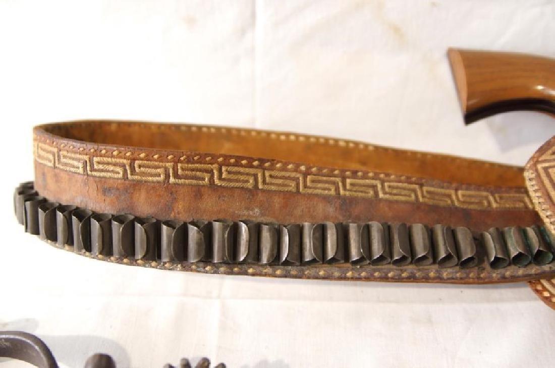 Western Gun Belt, Spurs and Replica Colt Lightning - 5