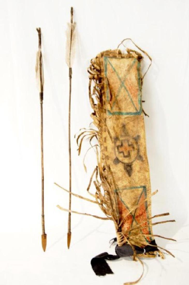 Plains Indians Painted Quill & Arrows
