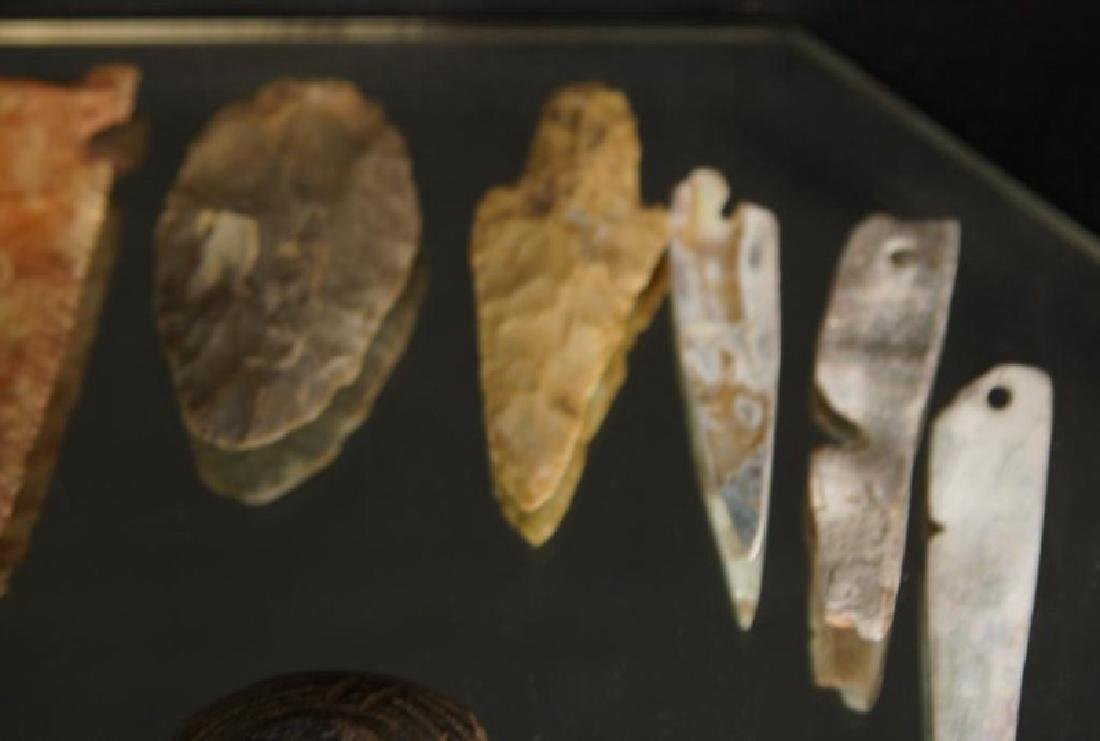 Pre Colombian Arrowheads, beads, buttons, tools - 3