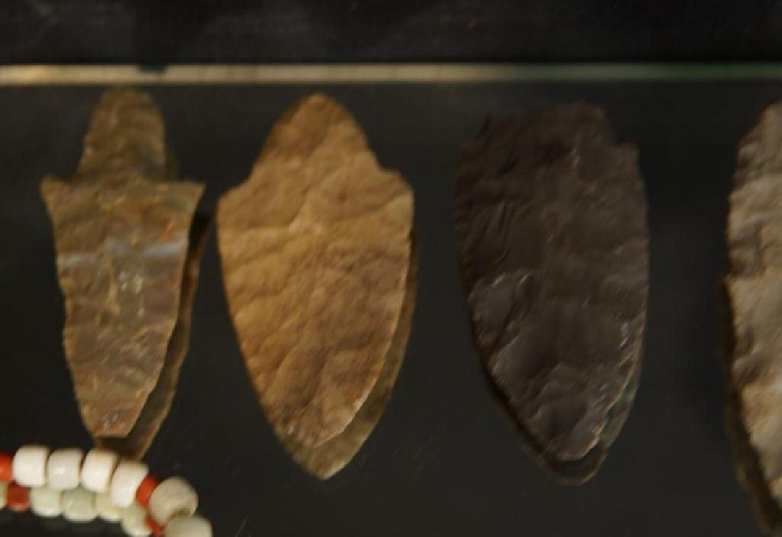 Pre Colombian Arrowheads, beads, buttons, tools - 4