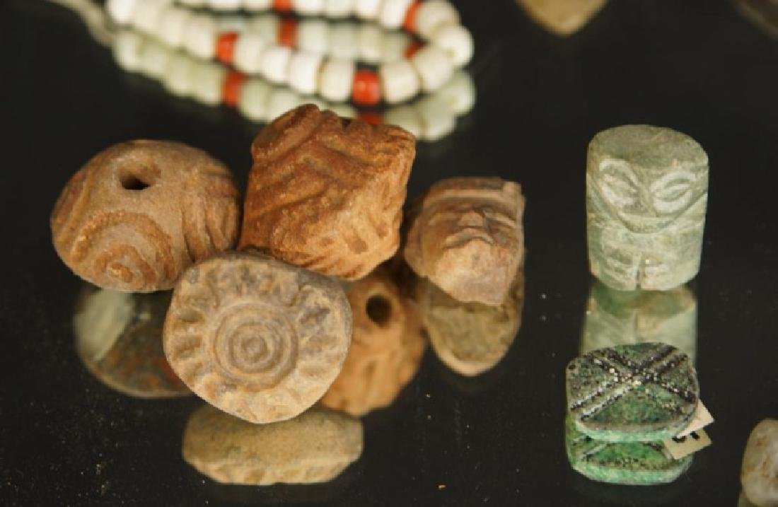 Pre Colombian Arrowheads, beads, buttons, tools - 6