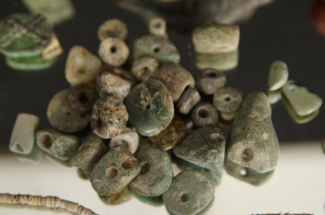 Pre Colombian Arrowheads, beads, buttons, tools - 8