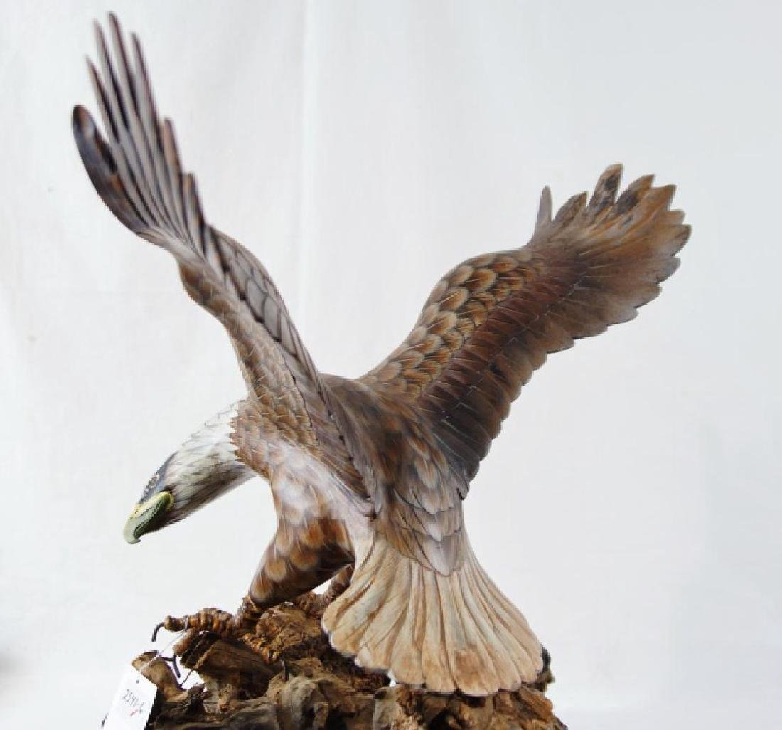 Wood carved hand painted eagle on driftwood - 5